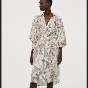 NWT Johanna Ortiz x H&M floral linen shirt dress M